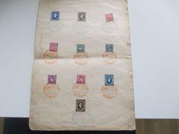 Slovenska Posta / CSSR Marken Mit Aufdruck Slovensky 1939 Sonderblatt Mit SST Brezova Rod Radlom Autoposta - Cartas