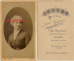 CDV  ALGER-Augustine JOUYNE Fille DeThéodore Magistrat, Président Du Tribunal Civil De Constantine -par Geiser - Anciennes (Av. 1900)