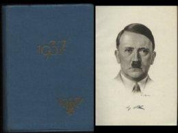 WW II RDB Taschenbuch Beamten Kalender Adolf Hitler 1937 : 370 Seiten, Bedarfserhaltung. - Germany