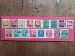 CINA - Lotticino 17 Francobolli Sovrastampati Nuovi + Spese Postali - 1912-1949 Republic