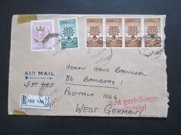 Libanon 1966 Einschreiben Air Mail / Luftpost Roter Stempel L2 Nicht Gestellungspflichtig! Liban - Líbano