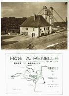Port De GROSLEE - Hôtel Penelle - Carte Publicitaire - Format 10.5x14.5- Bon état - Autres Communes