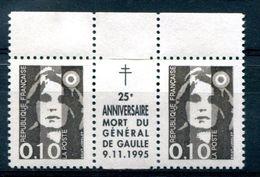 Thème Général De Gaulle - France Yvert 2617 Avec Intervalle 25e Anniversaire Mort Du Général De Gaulle Neuf Xxx - T 933 - De Gaulle (General)