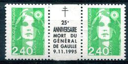 Thème Général De Gaulle - France Yvert 2820 Avec Intervalle 25e Anniversaire Mort Du Général De Gaulle Neuf Xxx - T 933 - De Gaulle (General)