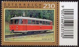 Austria 2020 1 V MNH Roter Blitz – Graz-Koflach Railway Class VT 10 Railway. Locomotive - Trains