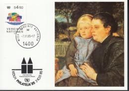 UNO WIEN  UNICEF-Kunstkarte Nr 49, Hans Thoma, Zur PHILATELIA '85 Köln 7.11.1985 - Lettres & Documents