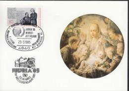 UNO NEW YORK, UNICEF-Kunstkarte, Aussellungskarte Mit Erinnerungsstempel: Rheda-Wiedenbrück 23,3.1985 - New-York - Siège De L'ONU