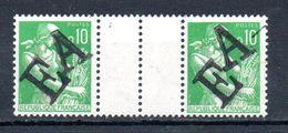 Algérie  Paire N°354 Avec Inter-panneau  EA  Neufs Sans Charniere  MASCARA 1962 Trés Rare - Algeria (1962-...)