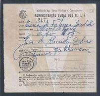 Raro Recibo De Carta Com AR Enviada Para Baucau, Timor Da Auto-Ambulância Lisboa Cadaval Caldas Da Rainha 1956. - 1910-... Republic