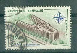 FRANCE - N° 1228 Oblitéré - 10° Anniversaire De L'O.T.A.N. Et Inauguration De Son Palais, à Paris. - Gebruikt