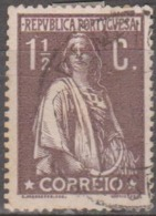 PORTUGAL - 1912, Ceres, 1 1/2 C.  Pap. Porc. Médio,  D. 15x14    (o)  Afinsa  Nº 209 - Used Stamps