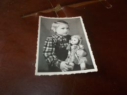B767 Foto Bambino Con Bambola Bartholdt,leipzig Cm10x7 - Fotografia