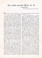 549 Rudolf Herrmann Russisch Japanische Krieg Artikel Mit 2 Bildern 1905 !! - Policía & Militar