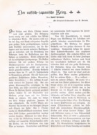 549 Rudolf Herrmann Russisch Japanische Krieg Artikel Mit 2 Bildern 1905 !! - Unclassified