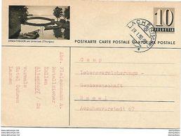 "7 - 24 - Entier Postal Avec Illustration ""Ermatingen"" Cachet à Date Lachen 1958 - Postwaardestukken"