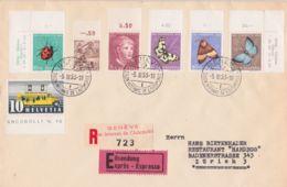 1953 SVIZZERA SUISSE Salone Intern. Automobile/Ginevra (5.3) Ann. Spec. Su Racc. Espresso Affr. (432+461+526/0) - Switzerland