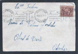 Rara Flâmula De Setúbal Do Monumento Ao Cristo Rei, Almada 1954. Rare Setúbal Pennant Of Monument To Cristo Rei. - 1910-... Republic