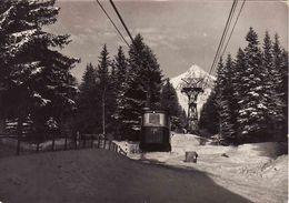Slovakia, Vysoké Tatry 1962, Tatranská Lomnica, Lanovka Na Lomnický Stit, Cableway, Used - Slowakije