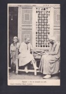 Egypte Jeu De Mangala Au Café ( Animée Comptoir Philatelique D'Egypte Alexandrie Ref 42007) - Egypte