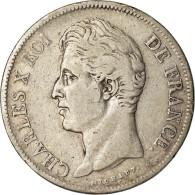 Monnaie, France, Charles X, 5 Francs, 1830, Toulouse, TB+, Argent, KM:728.9 - Francia