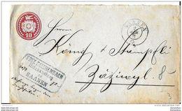 7 - 44 - Entier Postal  10cts - Superbe Cachet à Date De Saanen 1872 - Entiers Postaux
