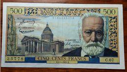 500 FRANCS DEL 6-1-1955 - 1955-1959 Sobrecargados (Nouveau Francs)