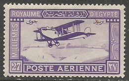 Egypt  - 1926 Bi-plane Over Nile 27m MH *     Mi 103  Sc C1 - Ungebraucht