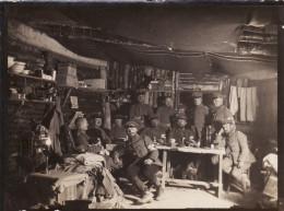 """Photo 14-18 TAHURE-""""NEUSTADT"""" ?? (Sommepy-Tahure) - Section Sanitaire Allemande Dans Leur Abri (A149, Ww1, Wk 1) - War 1914-18"""