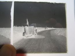 GUERRE 1914-18 - Plaque De Verre Stéréo Négative - AUTOMITRAILLEUSES ( MINERVA ??) - Format 6 X13 - Diapositiva Su Vetro