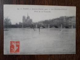 L27/1670 PARIS . LES INNONDATIONS 1910 . PONT DE LA TOURNELLE - Paris Flood, 1910