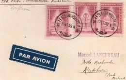 Ruanda-Urundi - 1939 - Carte Par Avion Usumbura-Rutshuru (cachet Irumu Au Dos) - 1924-44: Lettres