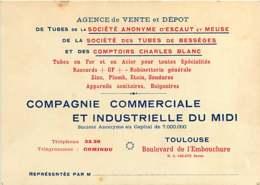 060620 - CARTE DE VISITE PUB 31 TOULOUSE Bd De L'embouchure - CCI Du Midi ESCAUT MEUSE BESSEGES - Toulouse