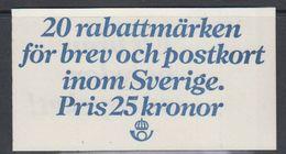 Sweden 1980 Rabattmarken / Discounted Stamps Booklet ** Mnh (47980) - Carnets
