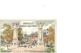 CHROMO   CHOCOLAT GUERIN BOUTRON  EXPOSITION UNIVERSELLE 1900   PARIS PYLONES D ENTREE  PROJETS - Tea & Coffee Manufacturers