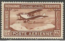Egypt  - 1929 Bi-plane Over Nile 27m MH *     Mi 152  Sc C2 - Ungebraucht