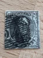 N° 6 P24 Bruxelles 18H TB 4 Marges - 1851-1857 Médaillons (6/8)
