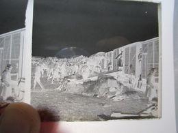 GUERRE 1914-18 - Plaque De Verre Stéréo Négative -  Embarquement De Chevaux - Transport - Format 6 X13 - Diapositiva Su Vetro