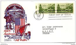 96 - 79 - Enveloppe Envoyée De Genoa  En Suède 1951 - Oblit 1er Jour - Storia Postale