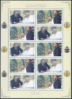Mi 352-53 MNH ** Sheetlet / State Visit Pope John Paul II, President Nursultan Nazarbayev - Kazakhstan