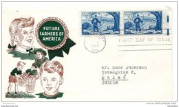 "96 - 81 - Enveloppe Premier Jour Avec Timbres ""Future Framers Of America"" 1953 - Storia Postale"