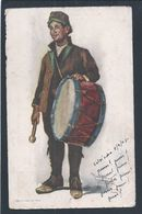 Postal Stationery With Pauliteiro Circled 1945. Pauliteiro Miranda Do Douro. Folklore. Drum. Music. Trommel. Musik. 2sc - Musique