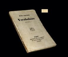 COCTEAU (Jean) - Vocabulaire. EO Num. - 1901-1940