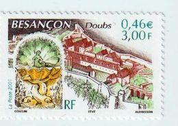 """Timbre  -  2001  -  N °3387  -  Série Touristique  -   """" Besançon , La Citadelle De Vauban """"        Neuf Sans Charnière - France"""