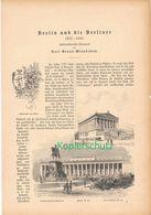019 Berlin Und Berliner 1832-1885 Artikel Mit 27 Bildern Von 1886 !! - Berlin