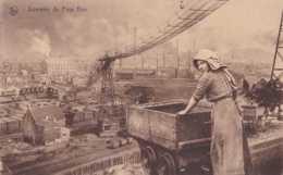 Charleroi - Souvenir Du Pays Noir - Circulé En 1934 - Animée - Wagon De Mine - TBE - Braine-le-Comte