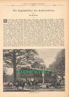 021 Jagdschlösser Der Hohenzollern Artikel Mit 7 Bildern Von 1889 !! - Política Contemporánea