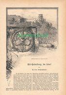 023 Alt Heidelberg Artikel Mit 25 Bildern Von 1887 !! - Baden -Wurtemberg