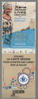 -302 - LA CARTE REGION : VERNON SALON DU LIVRE D AVENTURES 2014 - MARQUE PAGE - Bookmarks