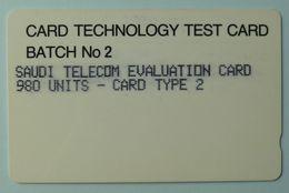 SAUDI ARABIA - Test - Batch No 2 - Evaluation Card - 980 Units - Card Type 2 - 1SAUE - Used - Arabia Saudita