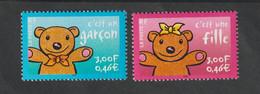 """Timbre  -  2001  - N °3377/78 -   Timbres Pour Naissance  -   """" C'est Un Garçon , C' Est Fille """" -   Neuf Sans Charnière - Unused Stamps"""